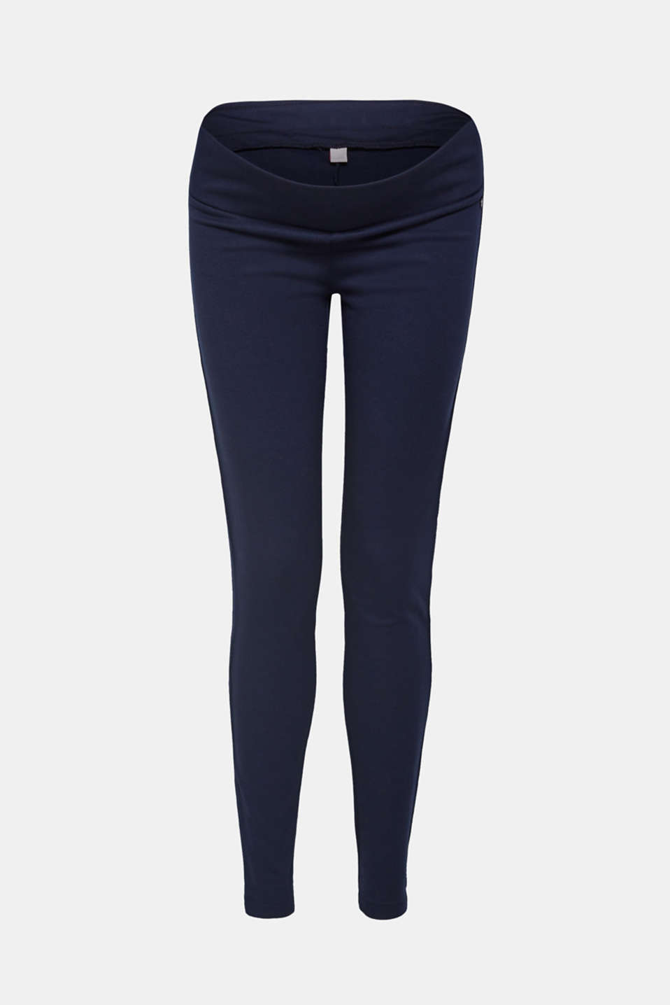Stretch jersey trousers with an under-bump waistband, LCNIGHT BLUE, detail image number 0