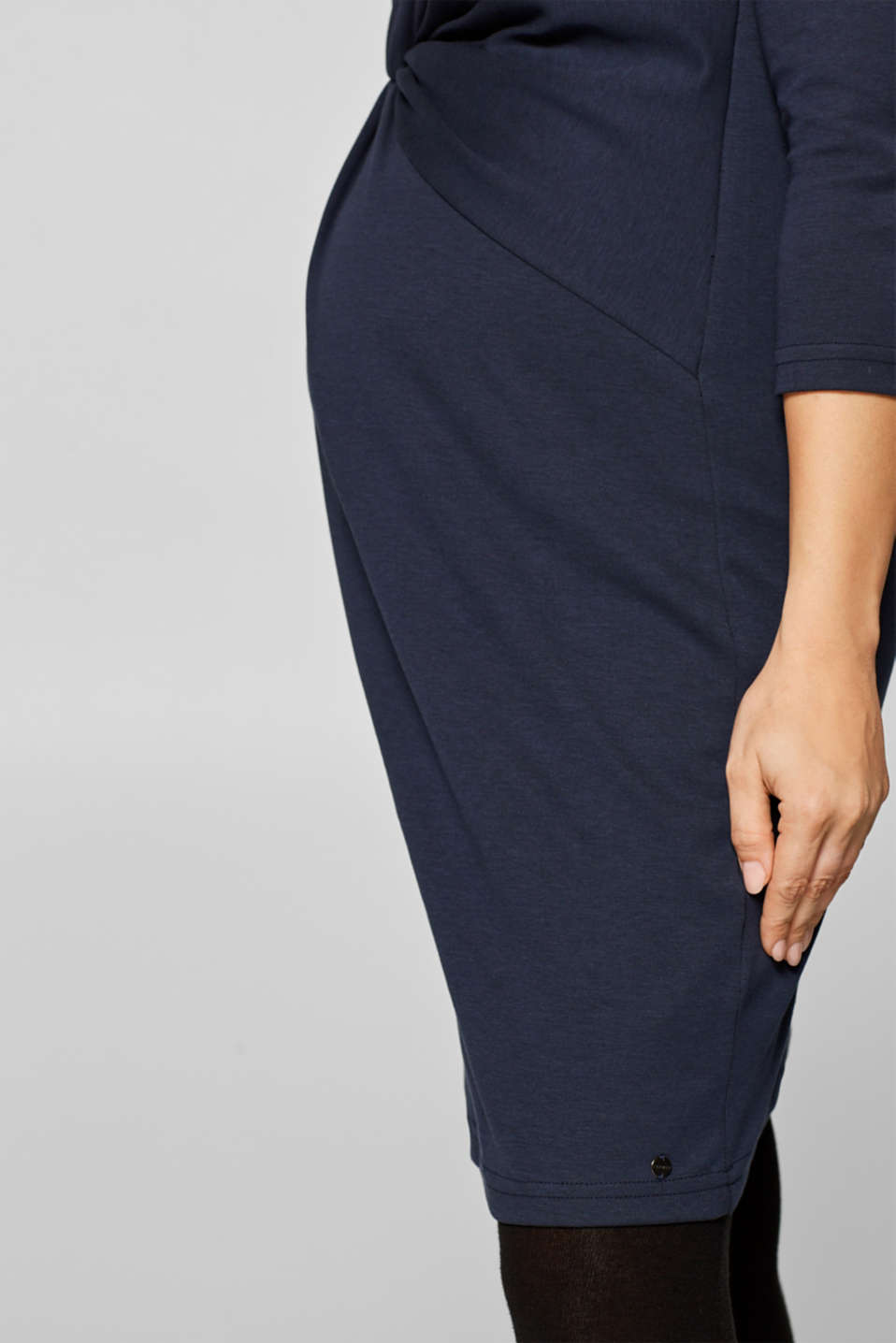 Jersey dress with a draped effect, LCNIGHT BLUE, detail image number 2