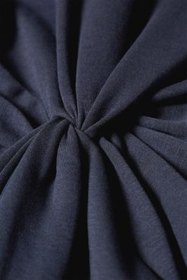 Jersey dress with a draped effect, LCNIGHT BLUE, detail