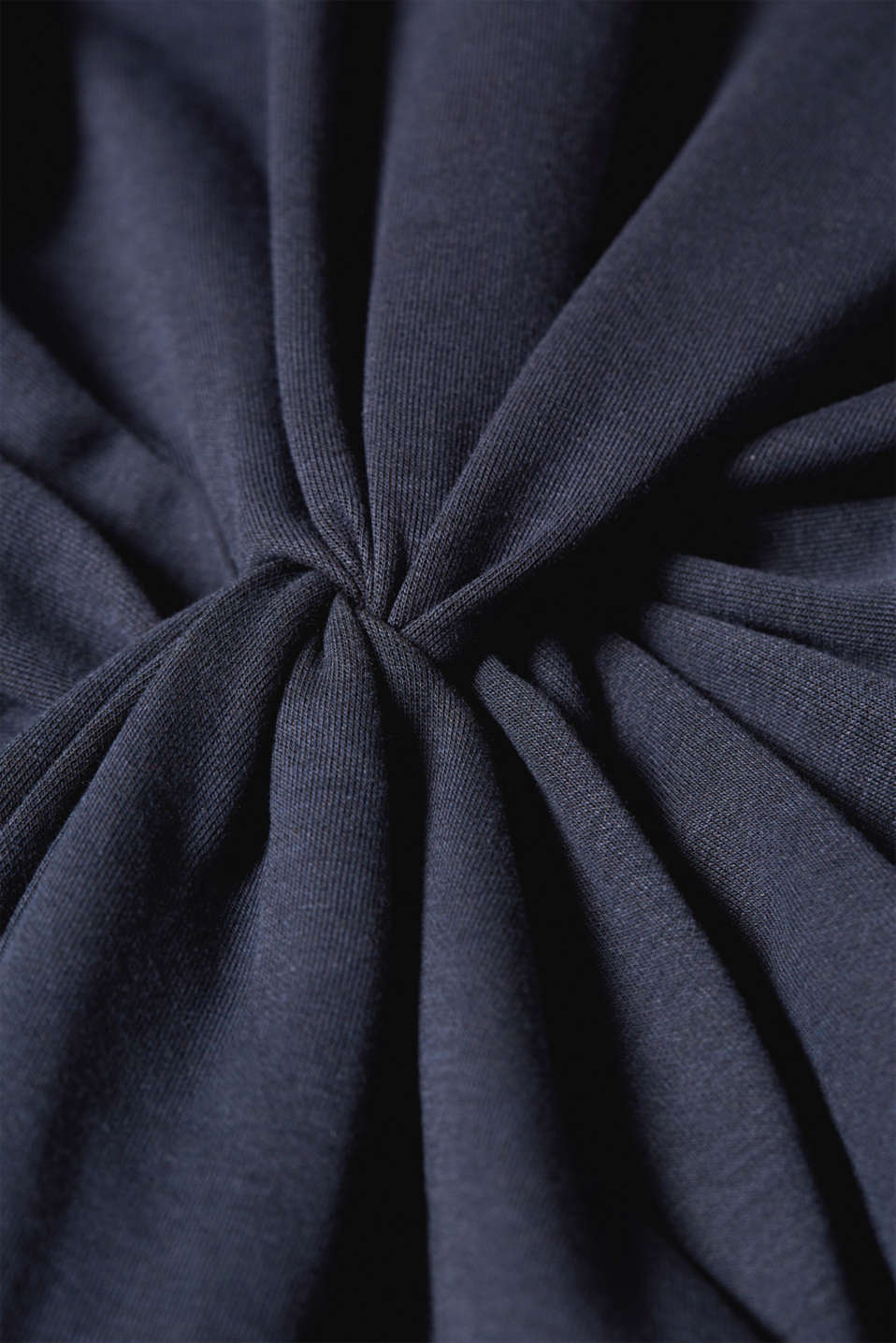 Jersey dress with a draped effect, LCNIGHT BLUE, detail image number 3