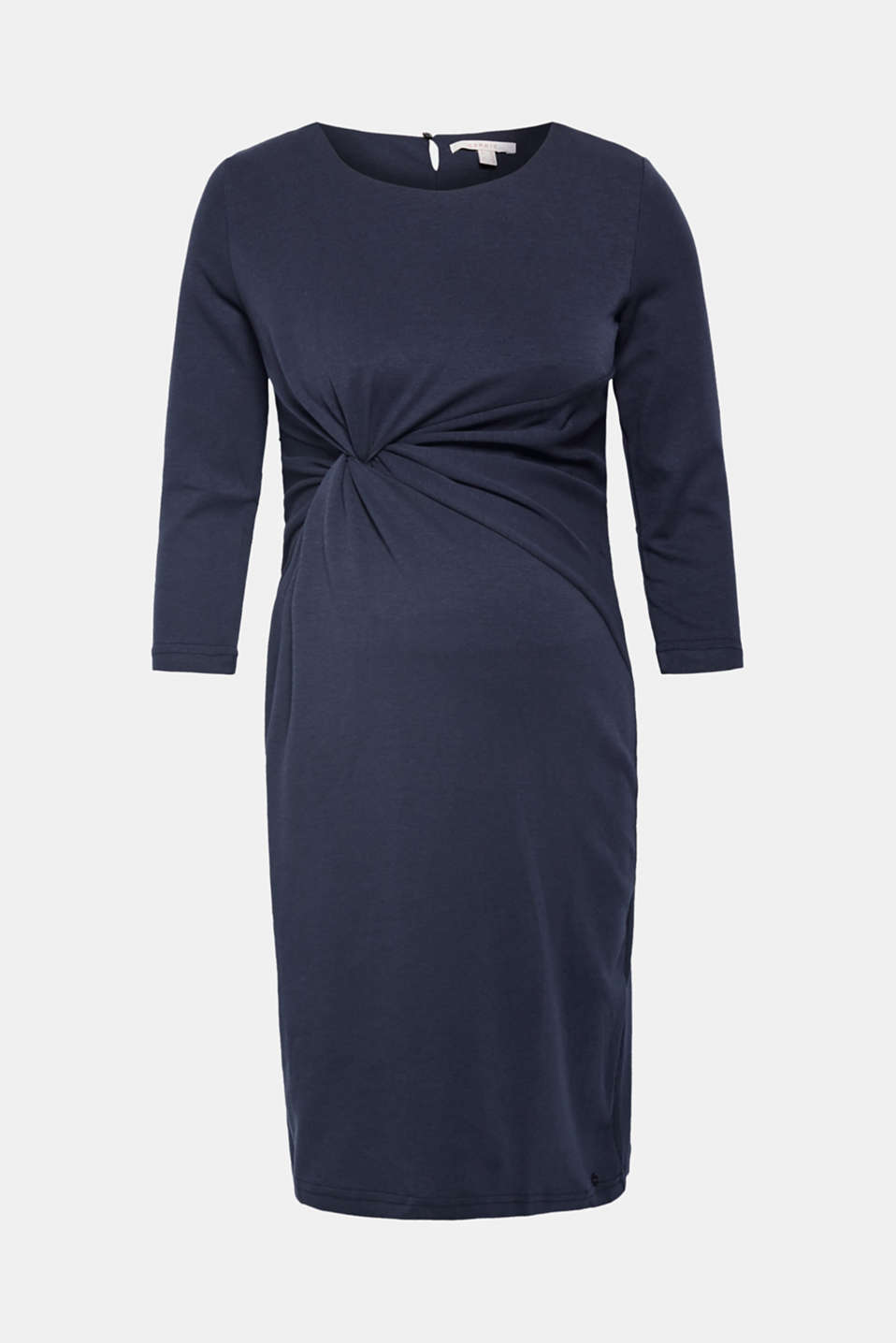 Jersey dress with a draped effect, LCNIGHT BLUE, detail image number 5
