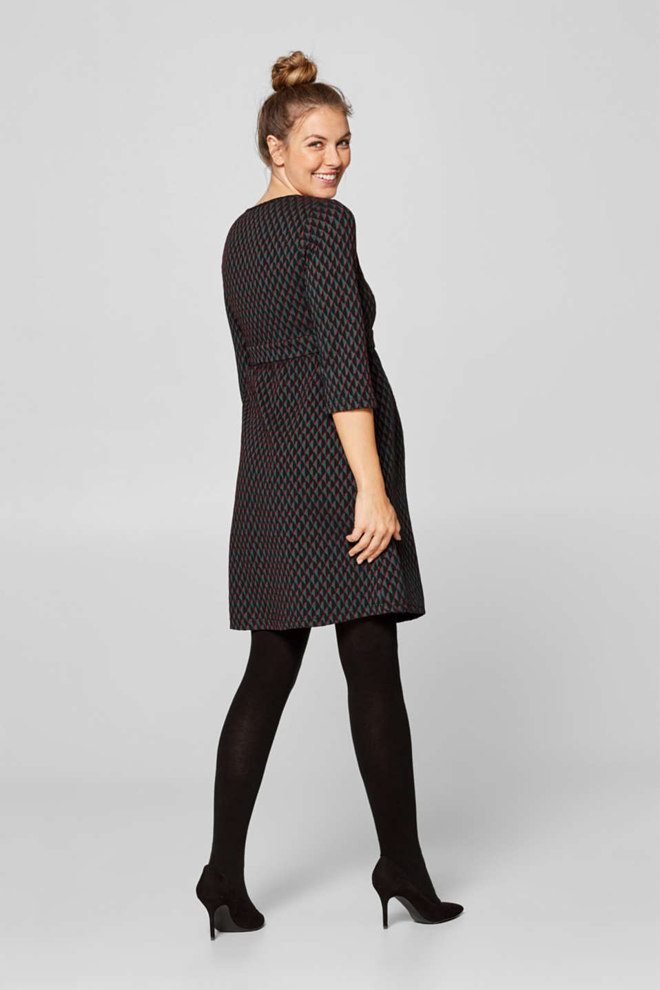 Jacquard dress with a nursing function, LCNIGHT BLUE, detail image number 1