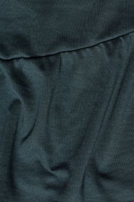 Jersey tunic with striped ribbed trims, LCDARK TEAL GREE, detail