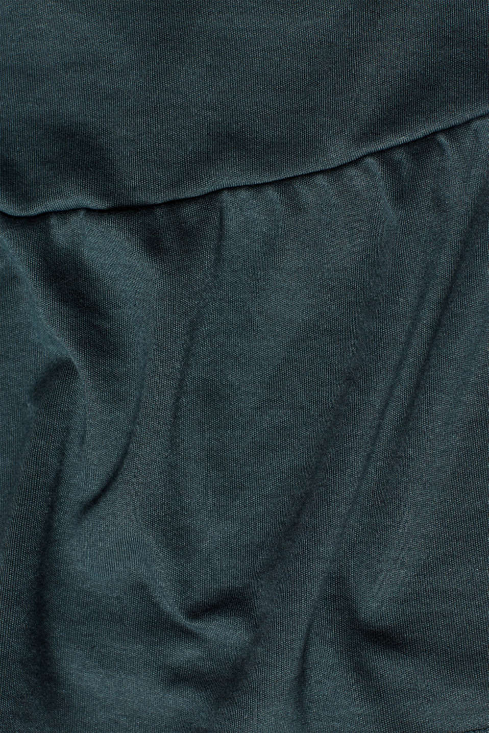 Jersey tunic with striped ribbed trims, LCDARK TEAL GREE, detail image number 3
