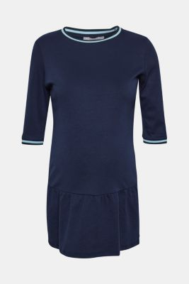 Jersey tunic with striped ribbed trims, LCNIGHT BLUE, detail