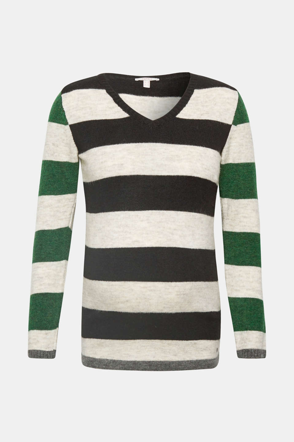 Esprit - Fluffy, stretchy jumper with block stripes