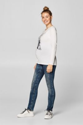 Long sleeve top with a fine glitter print, LCOFF WHITE, detail
