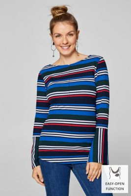Long sleeve maternity top with trumpet sleeves, LCNIGHT BLUE, detail