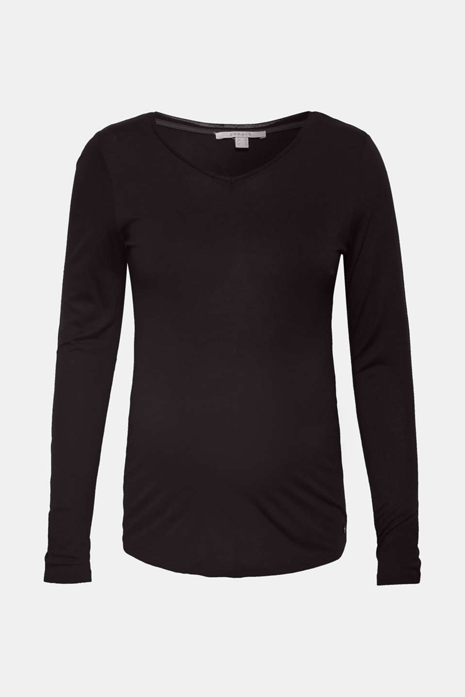 Esprit - Long sleeve top with a V-neckline