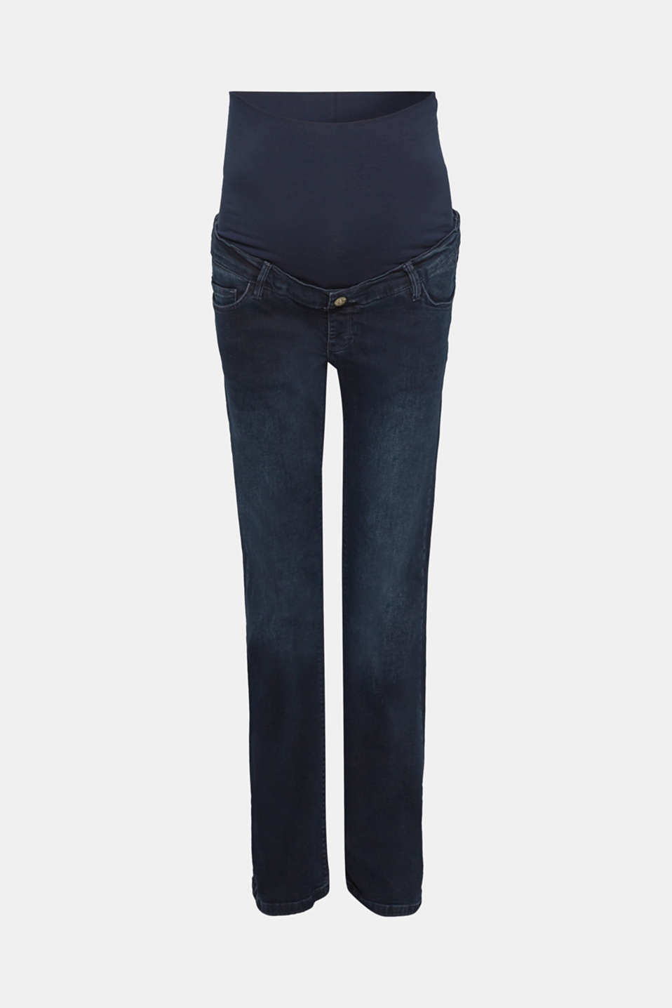 Esprit - Stretch bootcut jeans with an over-bump waistband