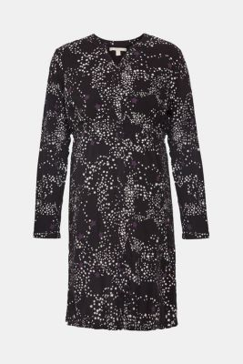 Woven dress with a star print and a nursing function, LCBLACK, detail