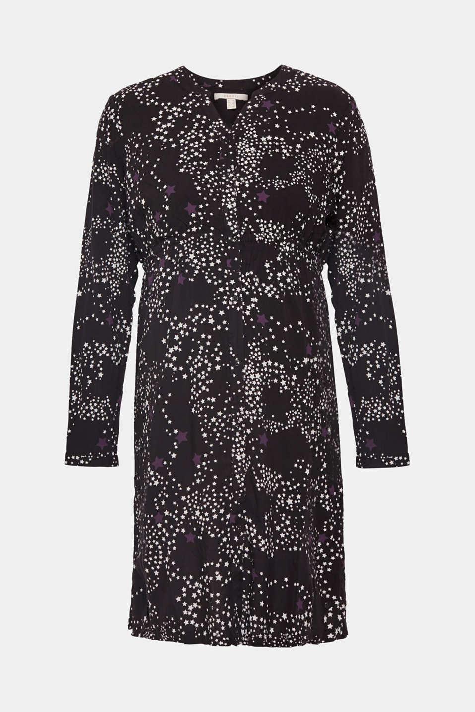 Woven dress with a star print and a nursing function, LCBLACK, detail image number 5