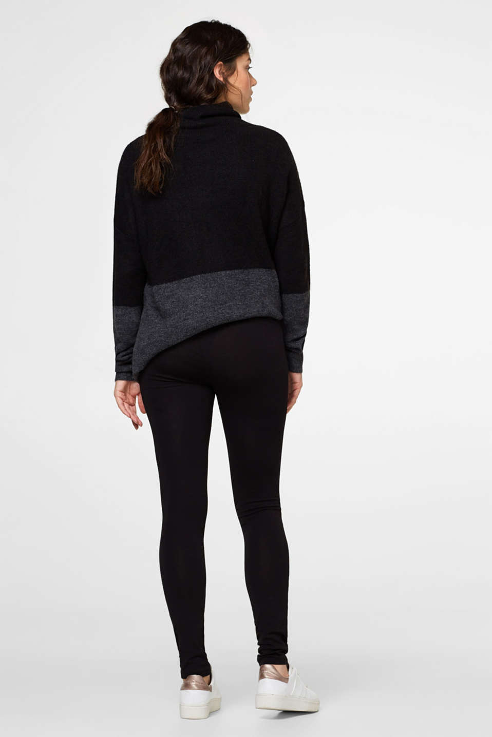 Esprit - Stretch leggings + above-bump waistband
