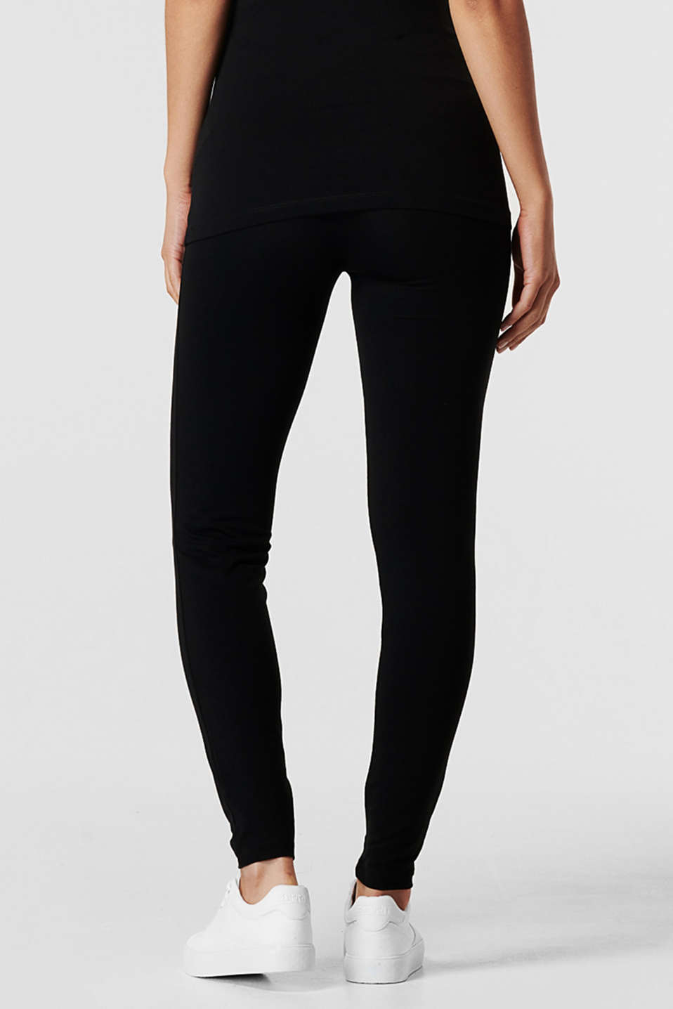Leggings with an over-bump waistband, LCBLACK, detail image number 4