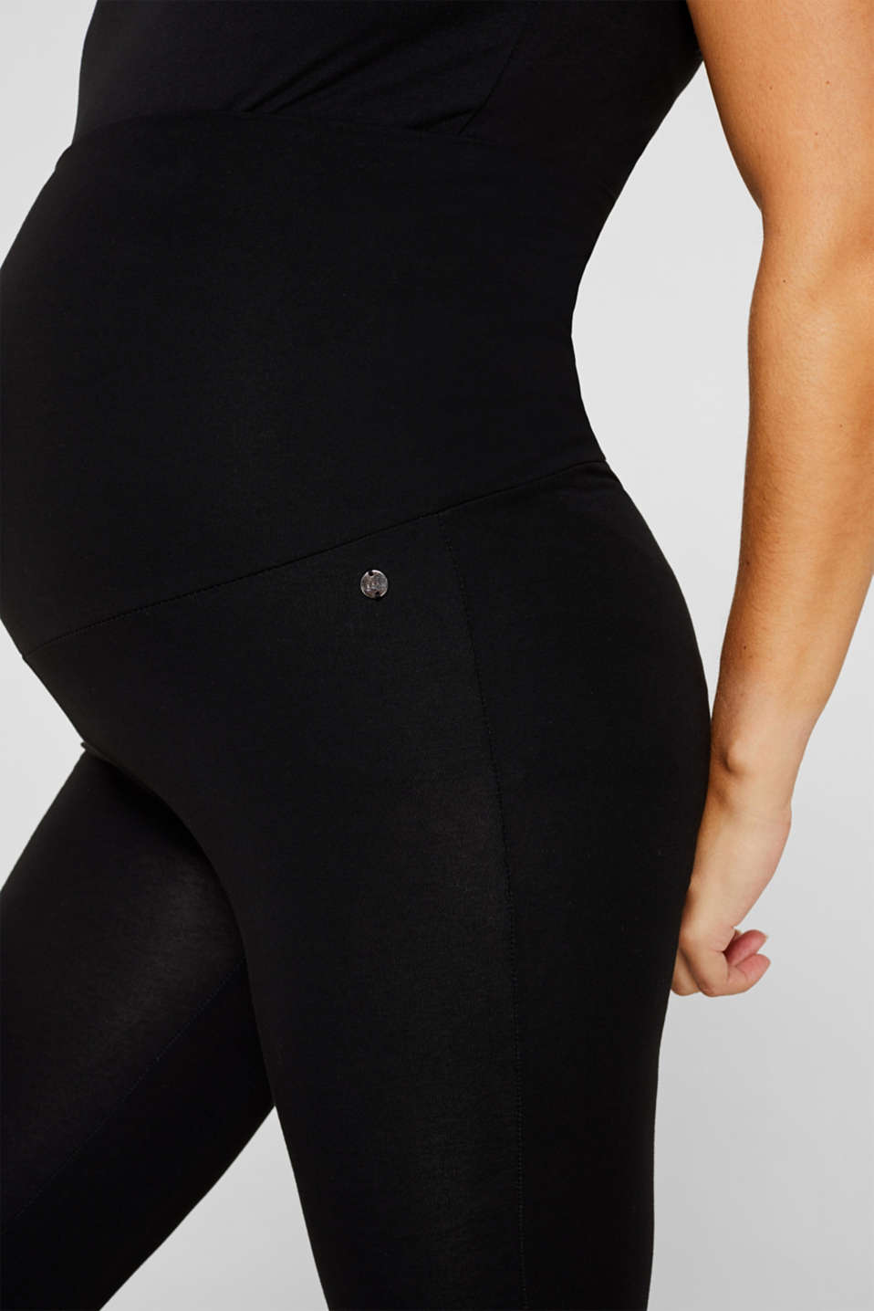 Leggings with an over-bump waistband, LCBLACK, detail image number 2