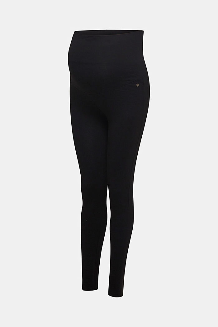 Leggings with an over-bump waistband, BLACK, detail image number 3