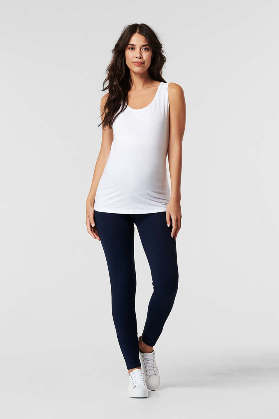 Leggings with an over-bump waistband, LCNIGHT BLUE, detail image number 0