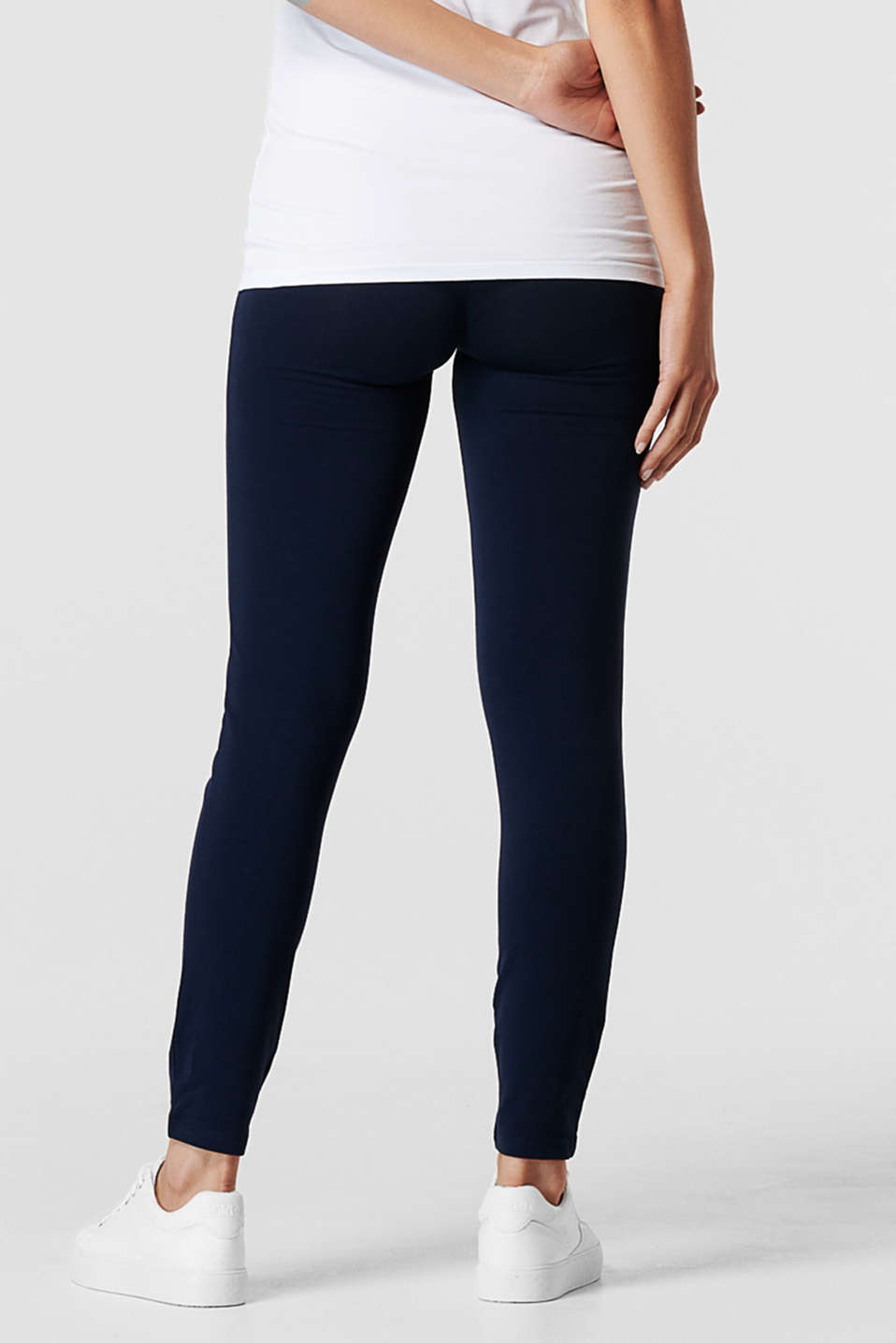 Leggings with an over-bump waistband, LCNIGHT BLUE, detail image number 3