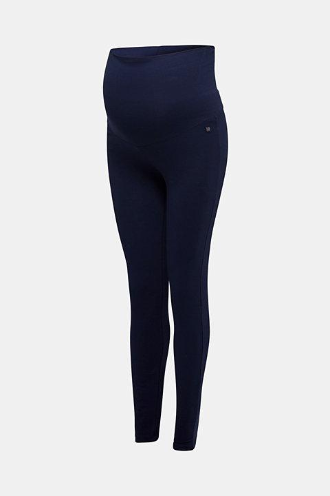 Leggings with an over-bump waistband