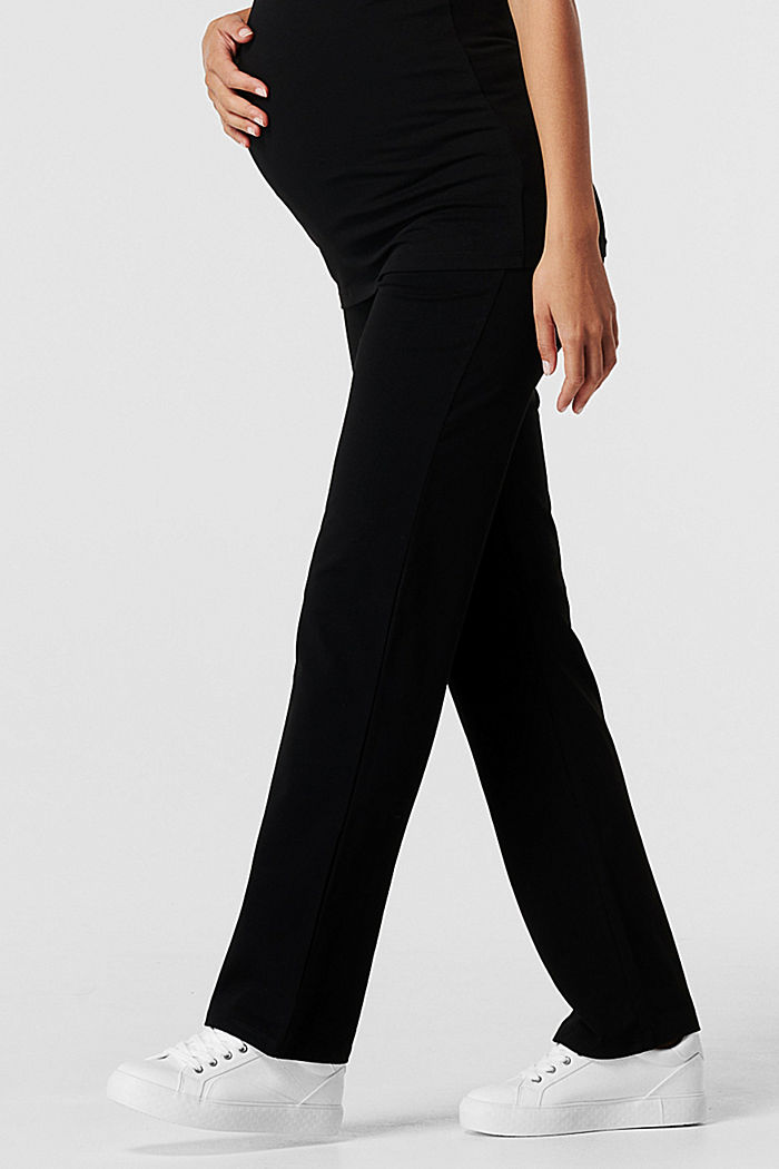 Pantalon en jersey à ceinture de maintien, BLACK, detail image number 1