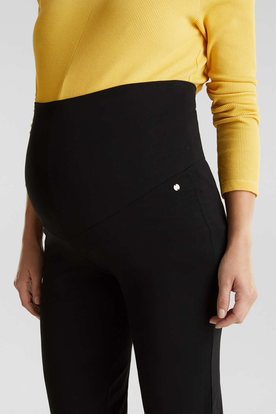 Stretch jersey trousers with an over-bump waistband, LCBLACK, detail image number 1