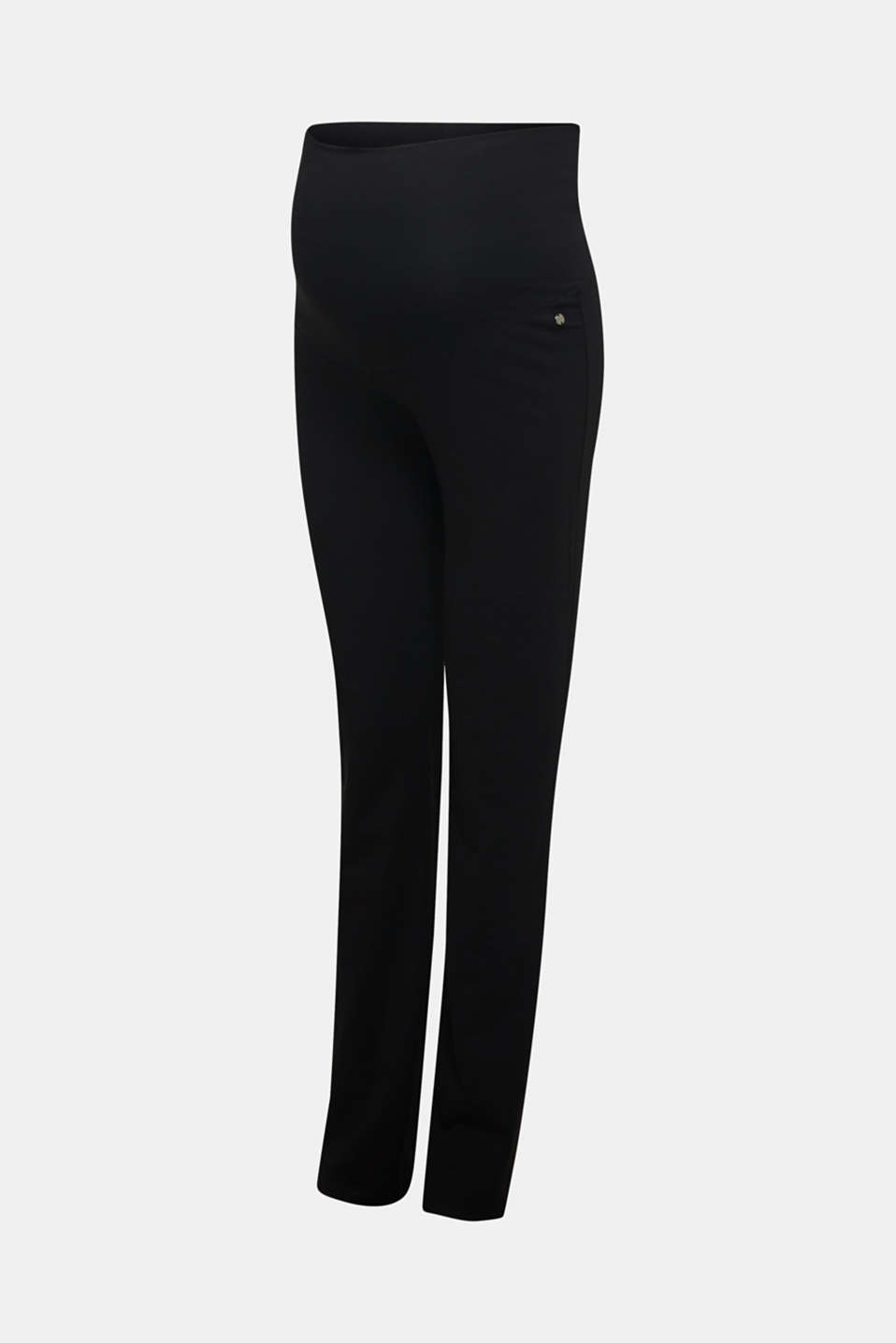 Stretch jersey trousers with an over-bump waistband, LCBLACK, detail image number 3