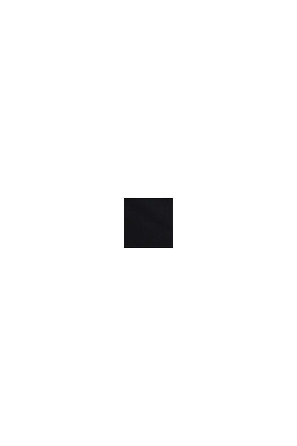 Jersey broek met band over de buik, BLACK, swatch