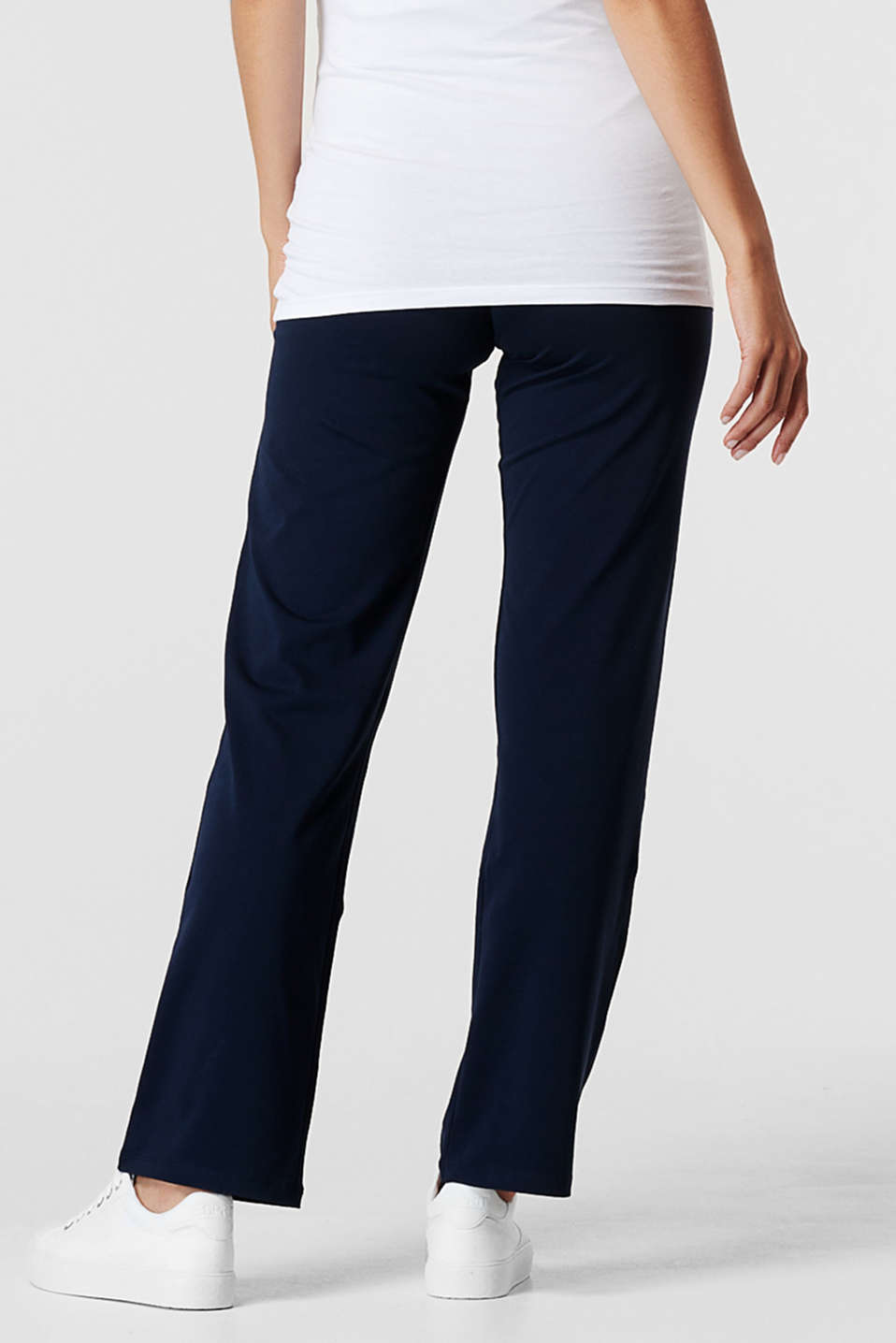 Stretch jersey trousers with an over-bump waistband, LCNIGHT BLUE, detail image number 2