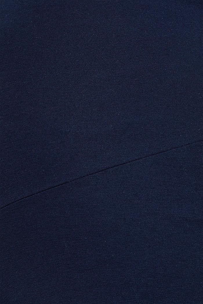 Jersey-Pants mit Überbauchbund, NIGHT BLUE, detail image number 3