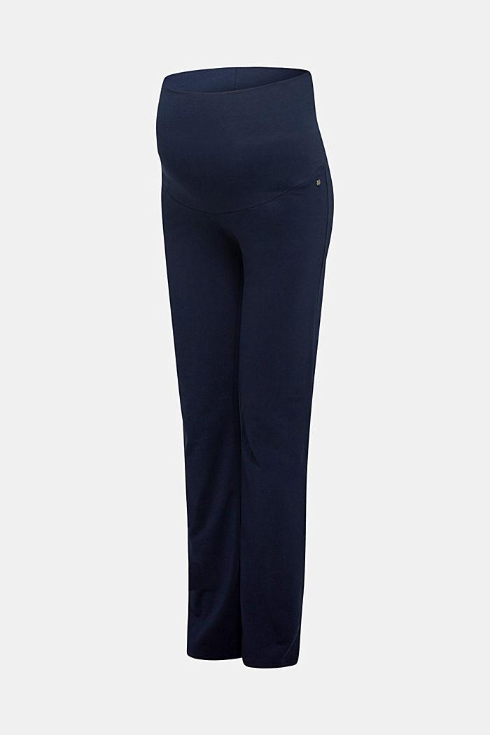 Jersey-Pants mit Überbauchbund, NIGHT BLUE, detail image number 4