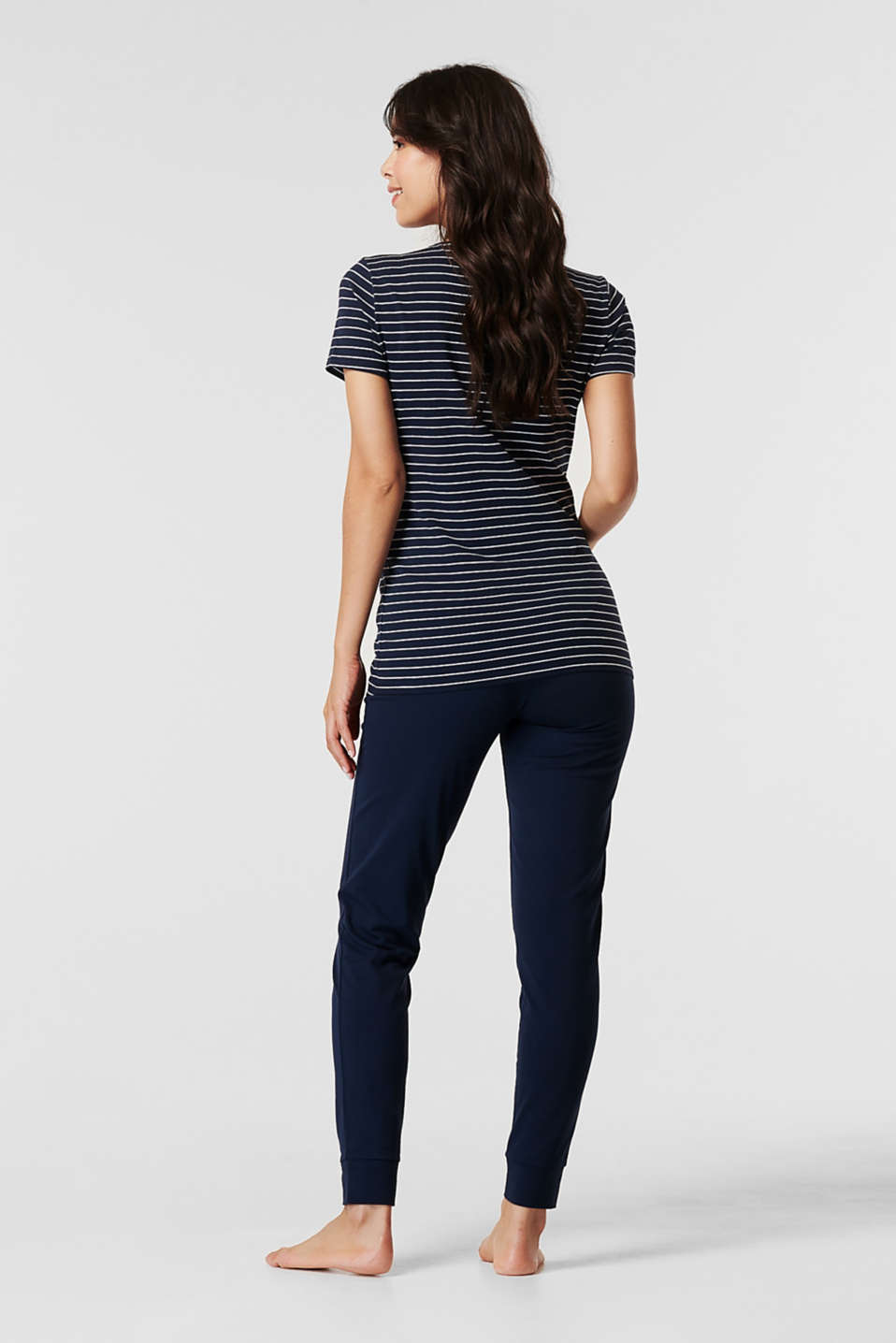 Stretch jersey pyjamas with a nursing function, LCNIGHT BLUE, detail image number 2