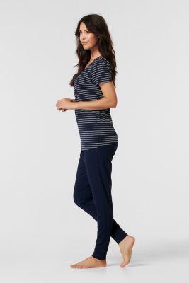 Stretch jersey pyjamas with a nursing function, NIGHT BLUE, detail