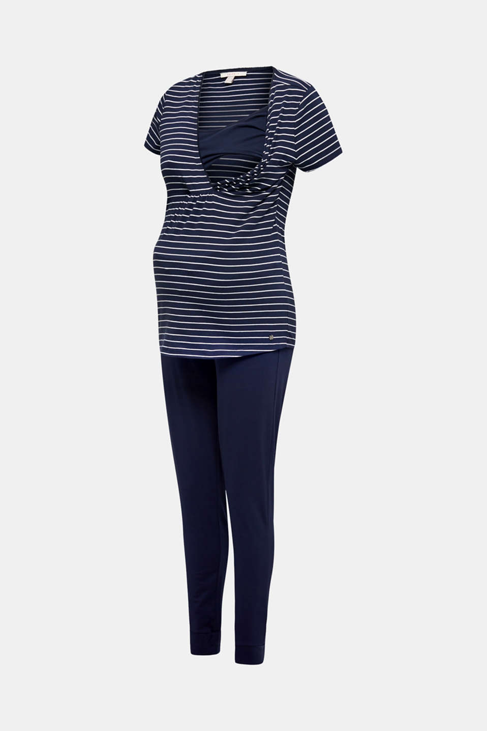 Stretch jersey pyjamas with a nursing function, LCNIGHT BLUE, detail image number 6