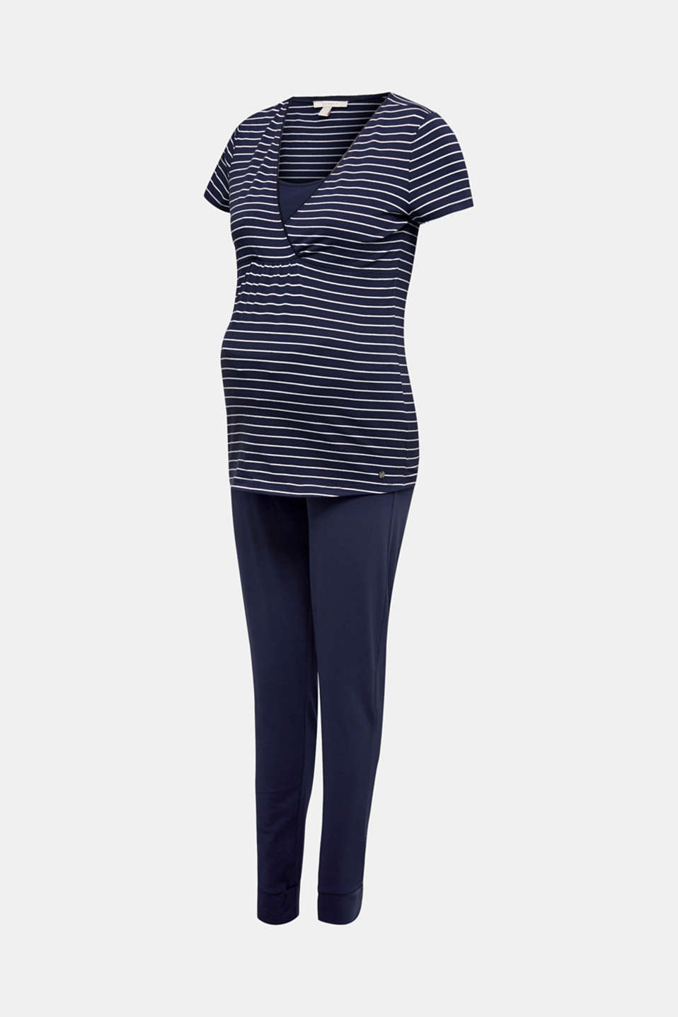 Stretch jersey pyjamas with a nursing function, LCNIGHT BLUE, detail image number 7