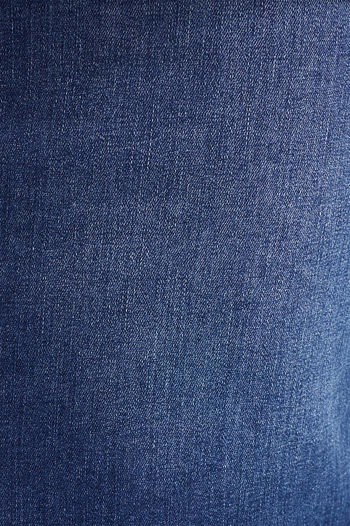 Stretch denim skirt, over-bump waistband, BLUE MEDIUM WASHED, detail image number 3
