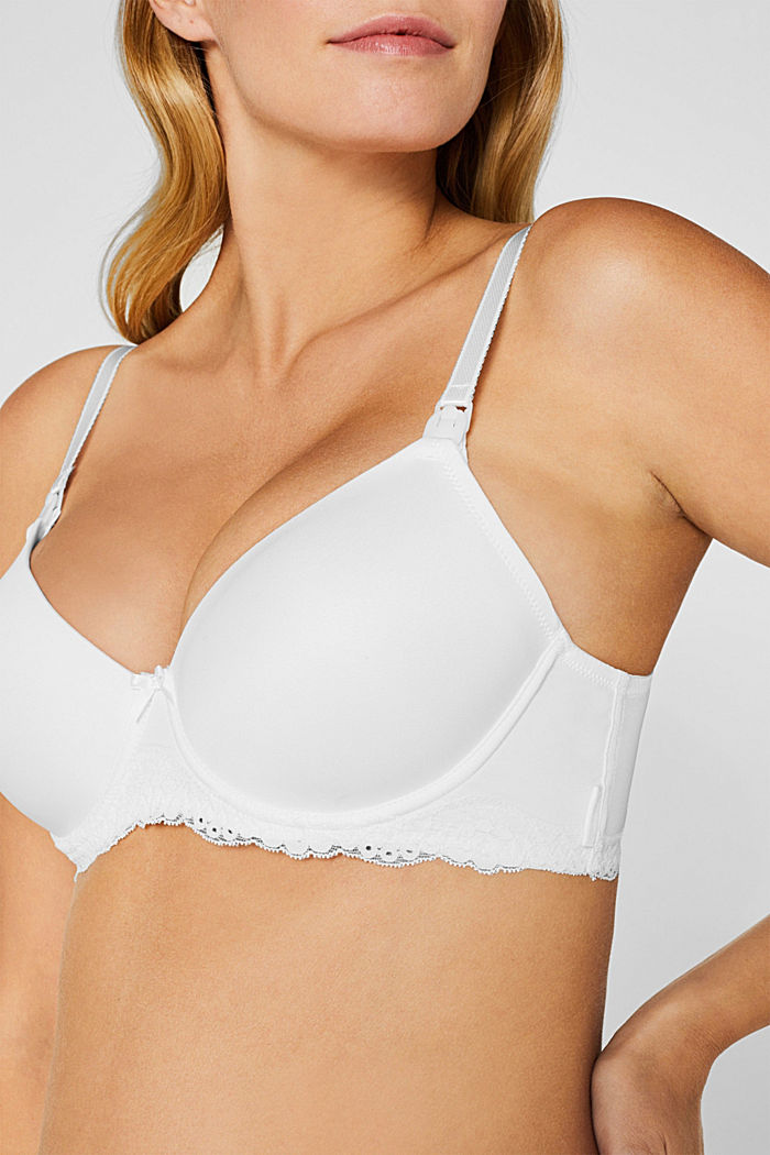 Nursing bra with underwiring and lace, NATURAL PEARL, detail image number 2