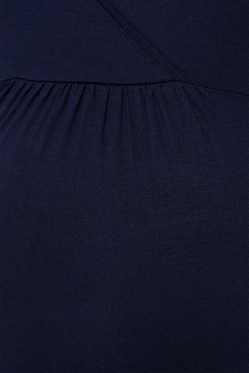 Flowing stretch nursing top, LCNIGHT BLUE, detail image number 4