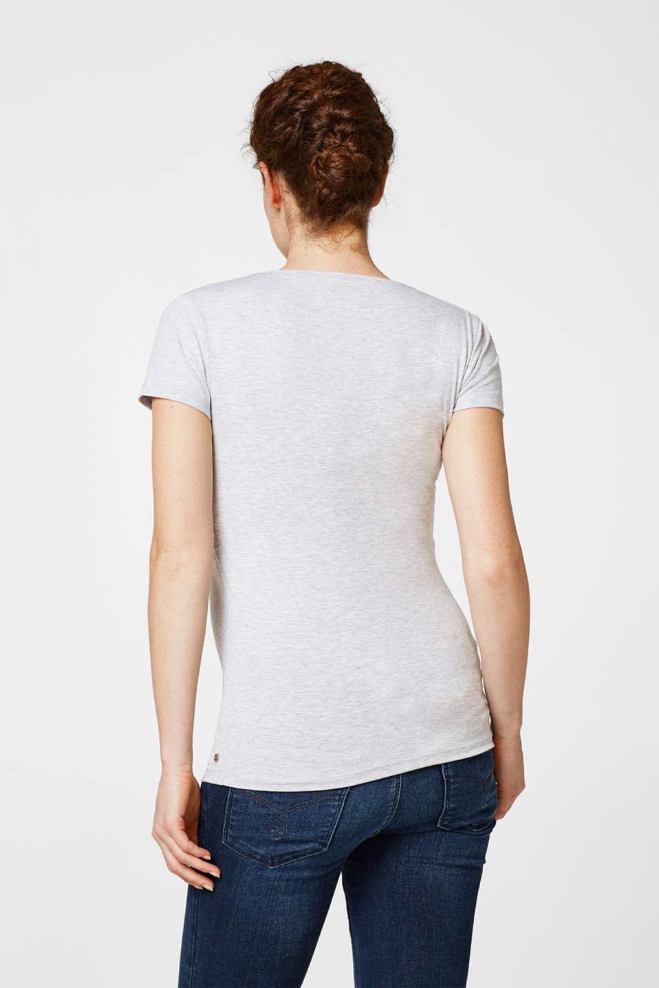 Stretchy top for nursing, LCGREY MELANGE, detail image number 3