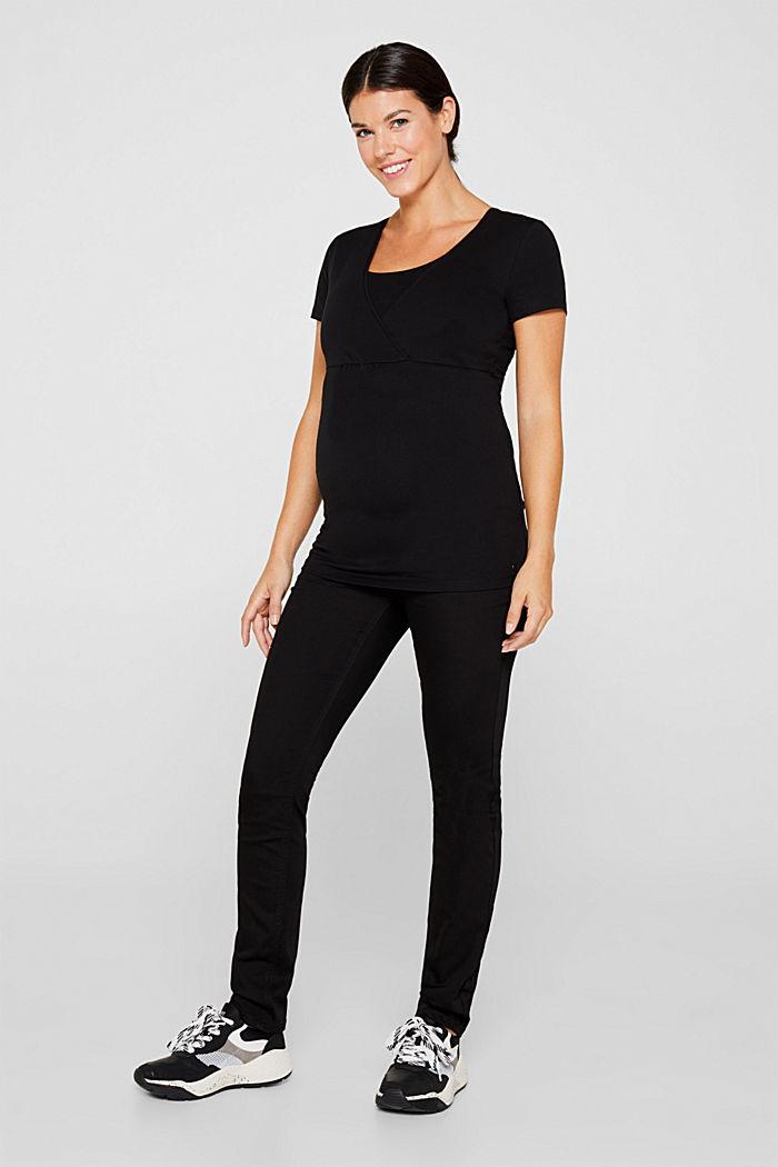 Stretch-Shirt mit Stillfunktion, BLACK, detail image number 1
