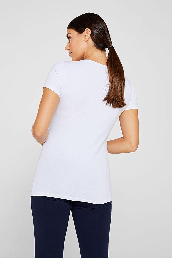 Stretchy nursing top, WHITE, detail image number 3