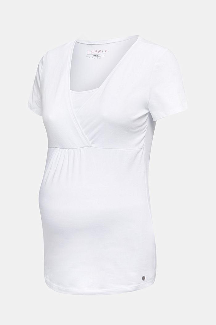 Stretchy nursing top, WHITE, detail image number 7
