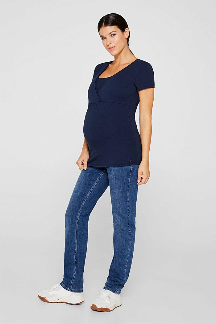 Stretch-Shirt mit Stillfunktion, NIGHT BLUE, detail image number 1