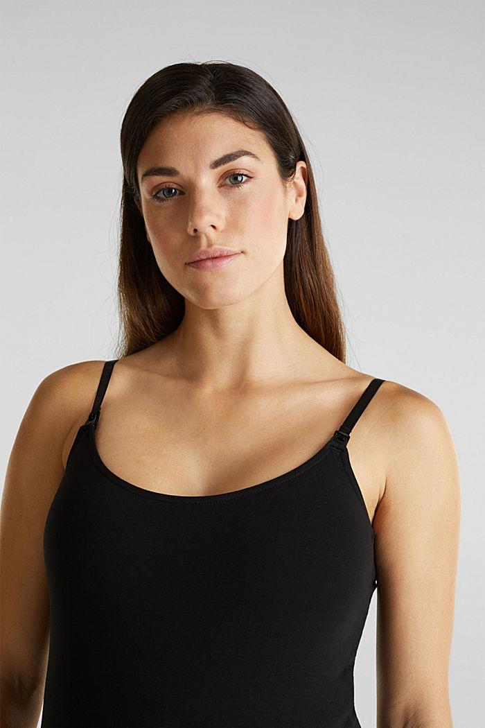 Stretchy nursing top, BLACK, detail image number 6