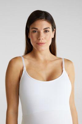 Stretchy nursing top, LCWHITE, detail