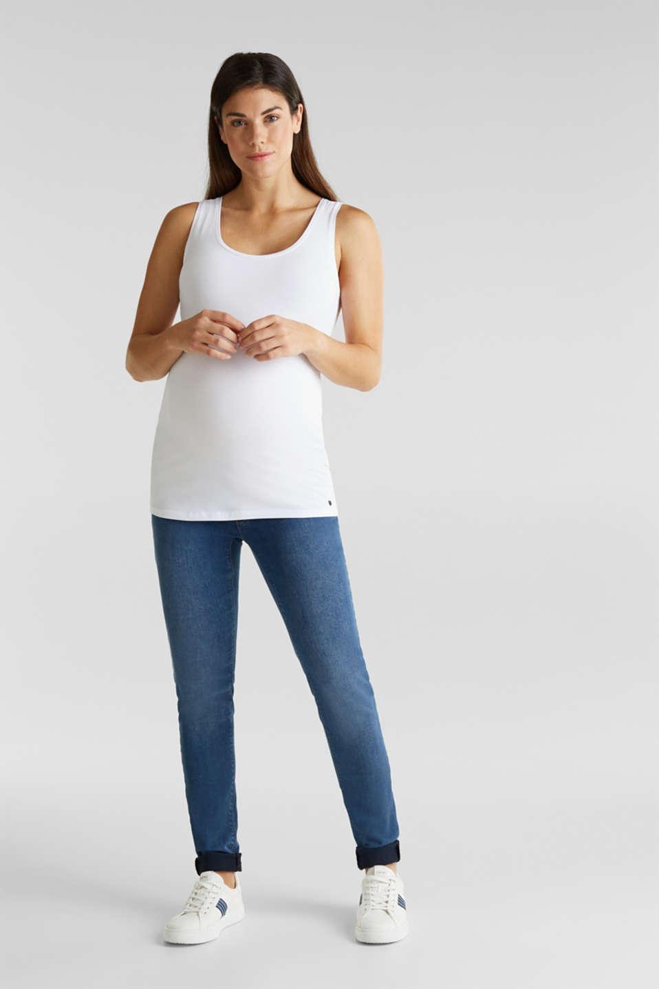 Stretch cotton vest, LCWHITE, detail image number 2