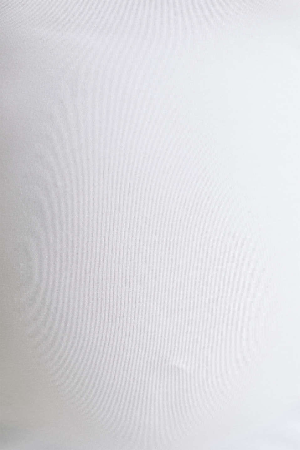Stretch cotton vest, LCWHITE, detail image number 4