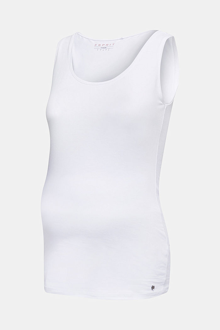Tank-Top aus Baumwoll-Stretch, WHITE, detail image number 6