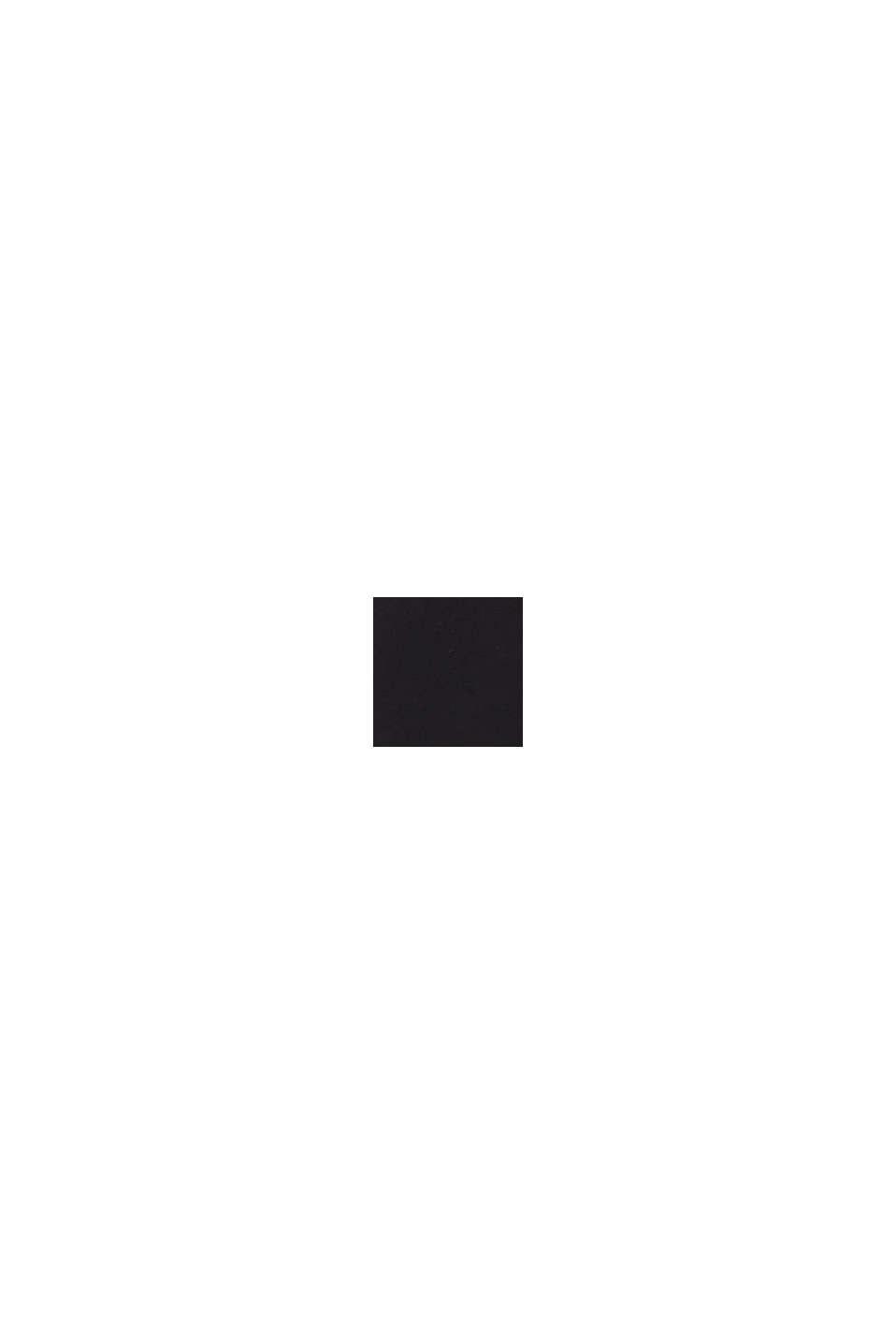 Still-Longsleeve mit Knopfleiste, BLACK, swatch