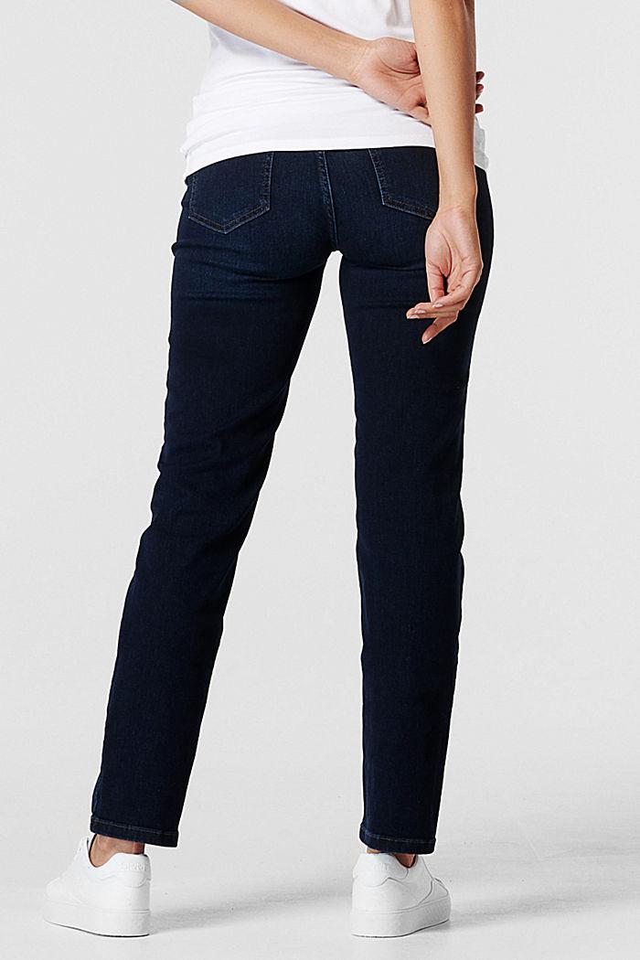 Stretch-Jeans mit Überbauchbund, BLUE DARK WASHED, detail image number 3