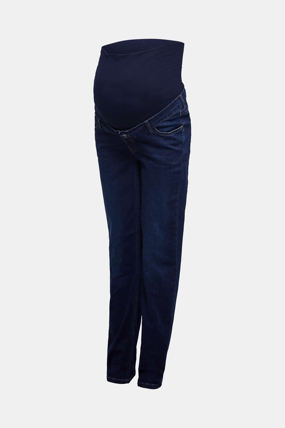 Stretch jeans with an over-bump waistband, LCDARKWASH, detail image number 6